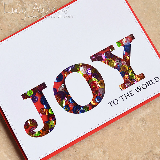 Joy Shaker Card 2 by Lucy Abrams