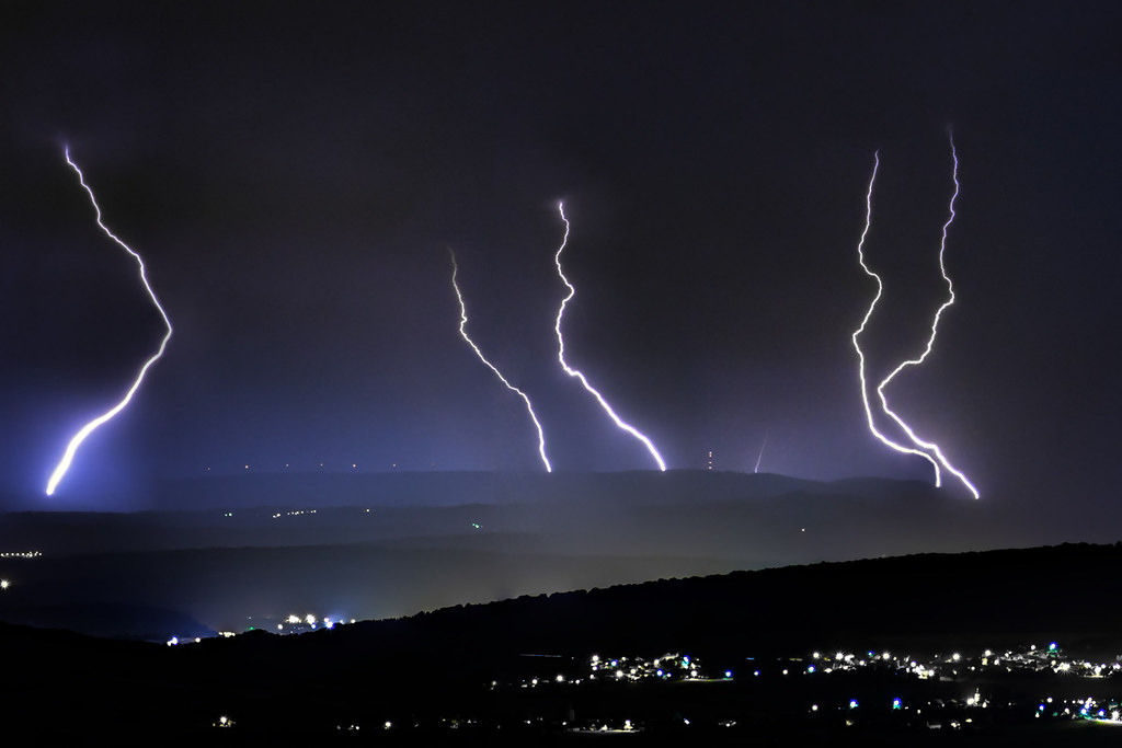 Distant lightning strikes