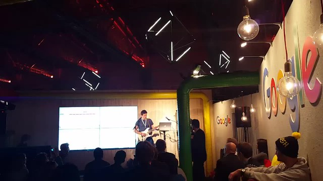 Soundtrap at the Google booth at Slush