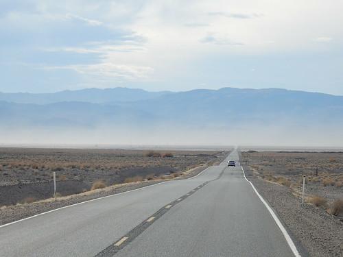 Onderweg naar Death Valley - stof