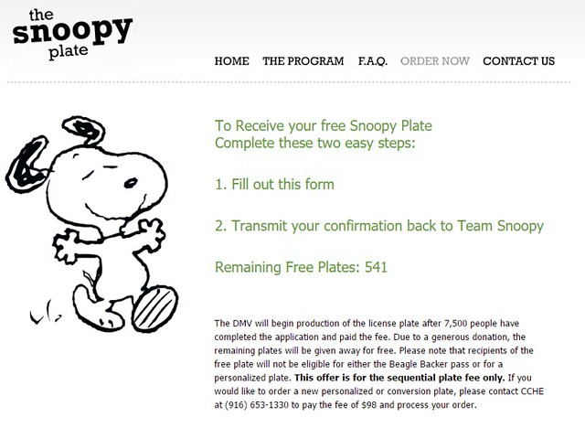 Free Snoopy Plate