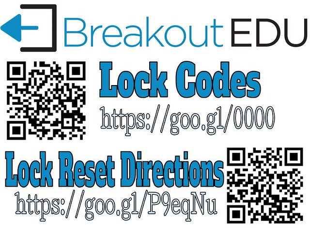 Breakout EDU Current Lock Combos and Reset Instructions