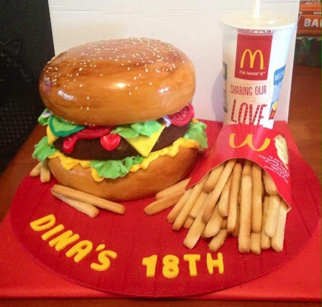Burger Themed Cake by 87tanyaz