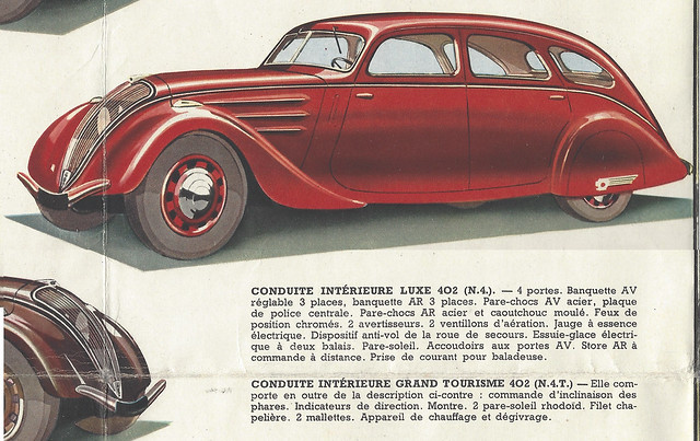 Conduite Intérieure Luxe / Grand Tourisme 402 N4/N4T - Peugeot Folder 1938