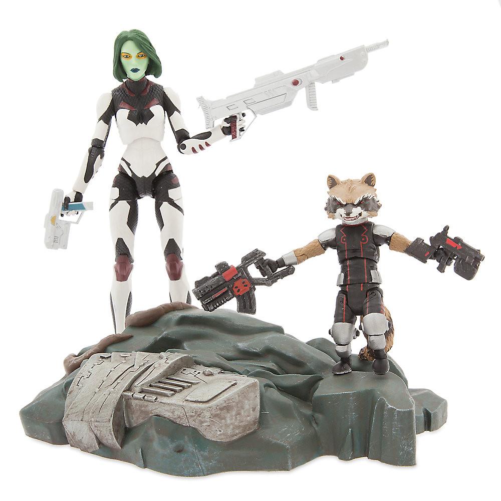 Marvel Select【星際異攻隊:葛摩菈、火箭浣熊】Guardians of the Galaxy Gamora with Rocket Raccoon 可動人偶作品