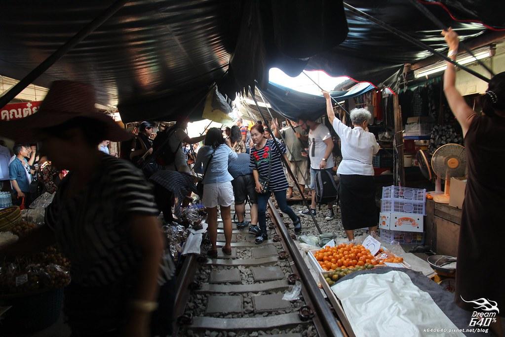 泰國曼谷-水上市場+美功鐵道市集+河濱夜市-62