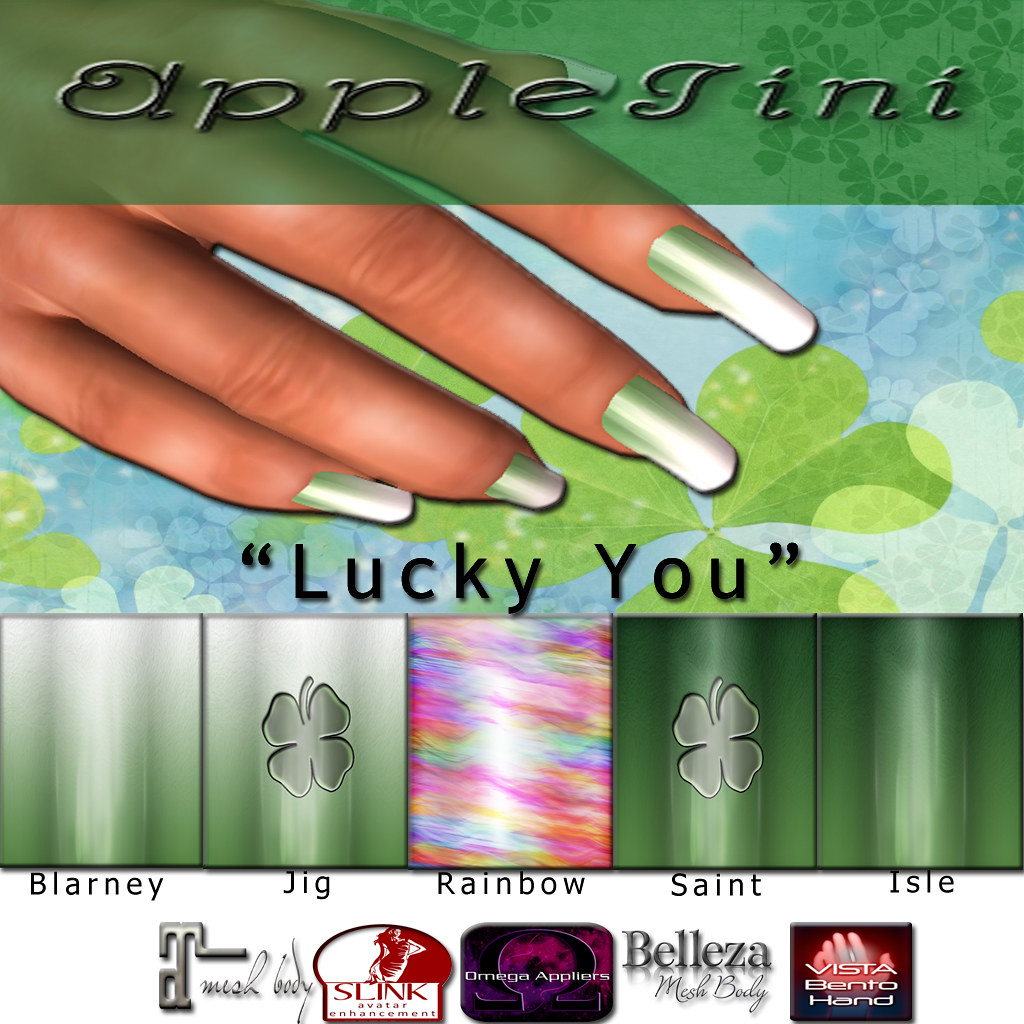 AppleTini Lucky You Nails - SecondLifeHub.com