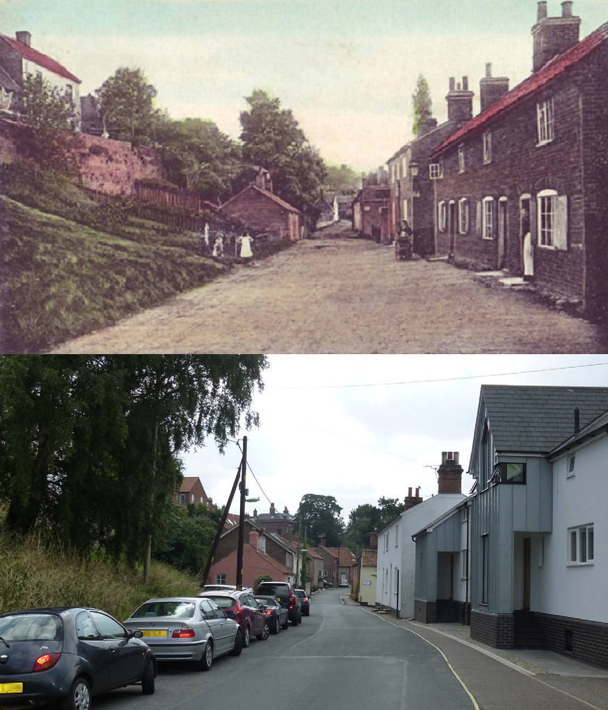 Puddingmoor, Beccles Then & Now