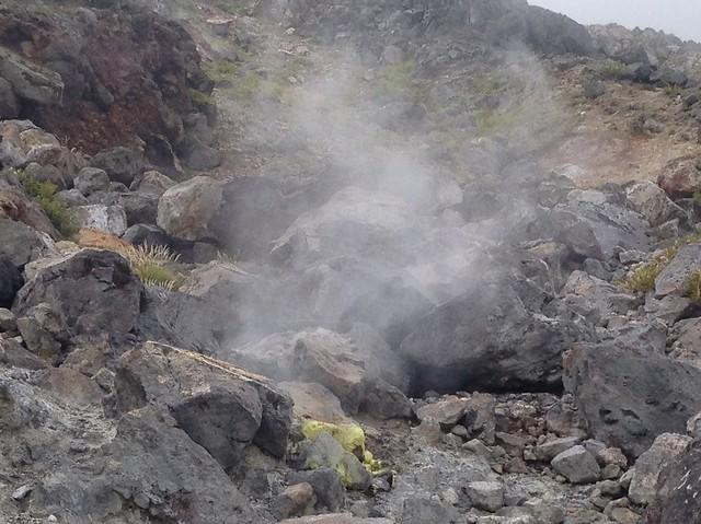 焼岳 中尾温泉ルート 噴口
