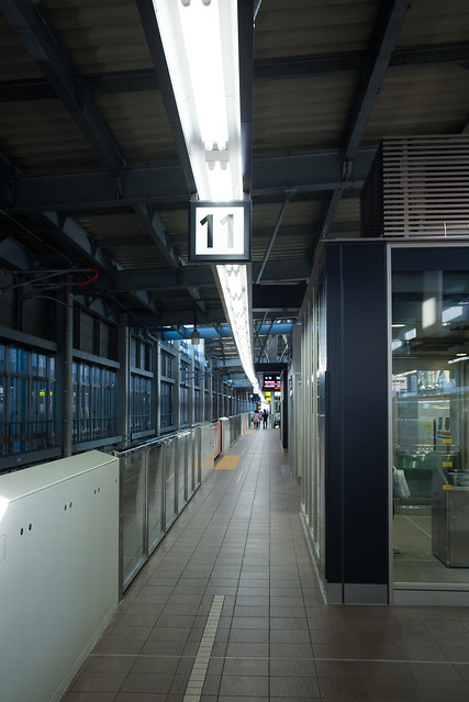 Shinkansen platform of Kanazawa Station (金沢駅)