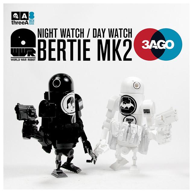 threeA 3AGO 系列【夜守/日守。貝蒂機器人組合包】NW & DW Bertie Mk2 Set