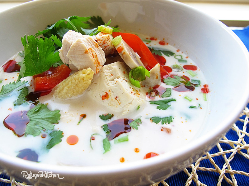 Chicken & Tofu Coconut Soup