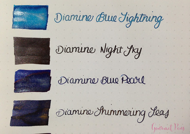 Ink Shot Preview Diamine Shimmer Inks (2)