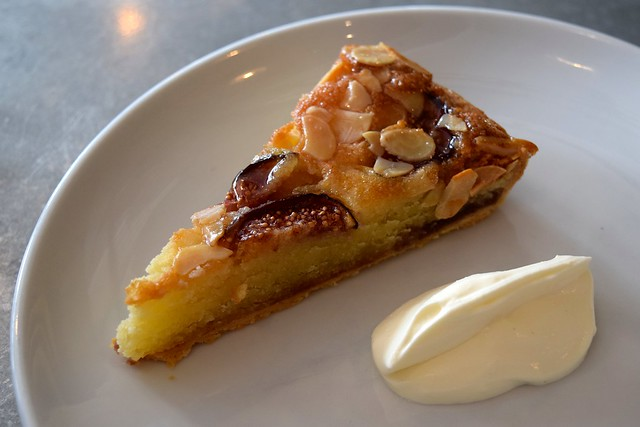 Fig & Almond Tart with Normandy Creme Fraiche at John Doe, Westbourne Park | www.rachelphipps.com @rachelphipps