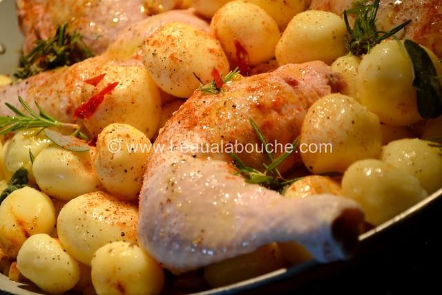 Cuisses de Poulet & Pommes de Terre Rôties © Ana Luthi Tous droits réservés 002