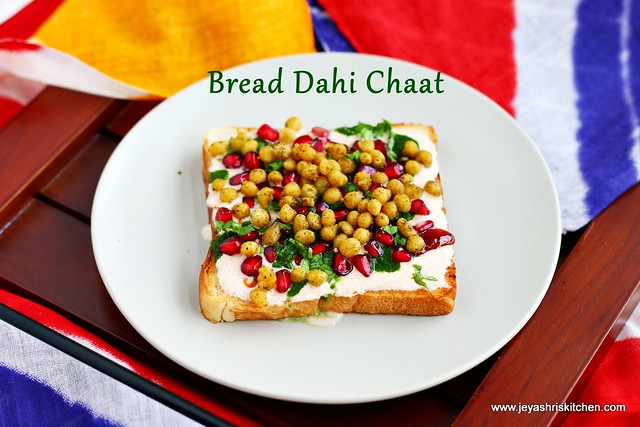 Dahi- bread Chaat