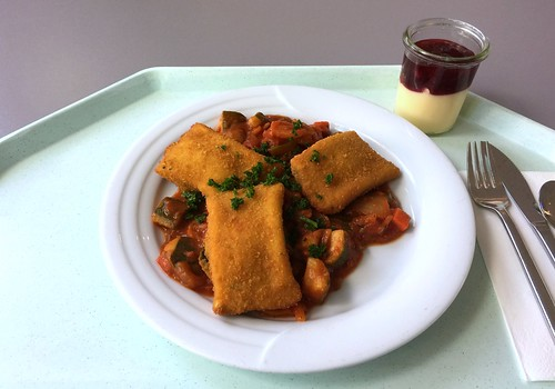 Polenta slices on ratatouille / Polentaschnittena uf Ratatouillegemüse