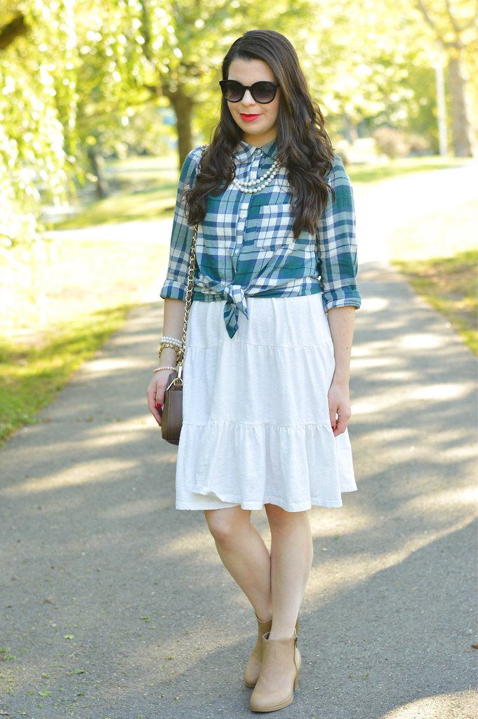 plaid-shirt-and-skirt
