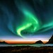 Northern light and sunset by steinliland
