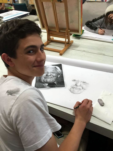 teenager art class with Mike Lamble03