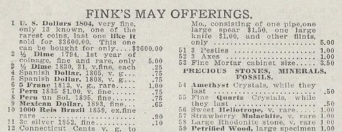 Fink's 1912 May Offerings