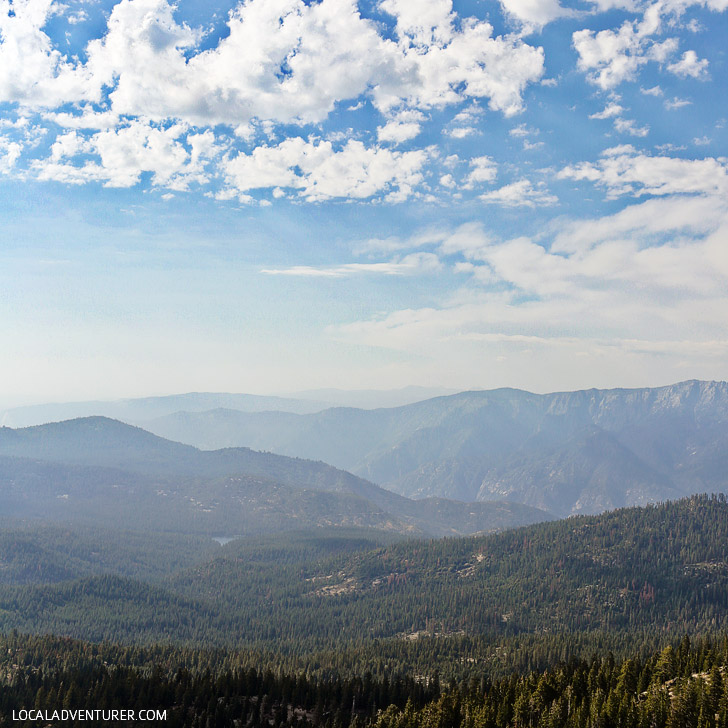 View of Sequoia National Park from Buck Rock Lookout.