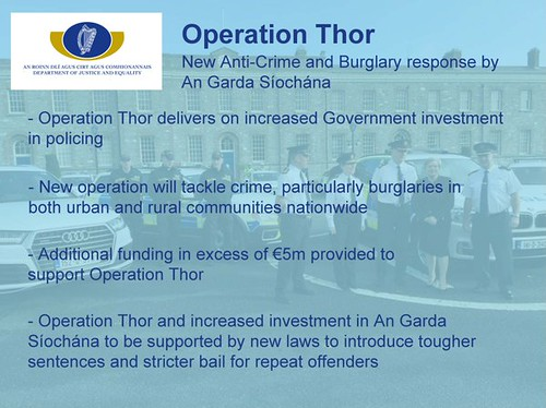 Key Points on the Operation Thor – new Anti-Crime and Burglary response by An Garda Síochána