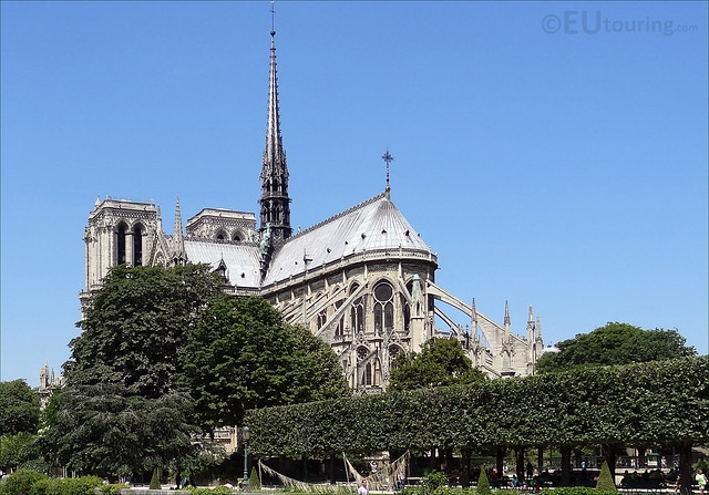 Back view of the Notre Dame
