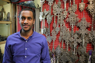 Yordanes a great guy.  Buying traditional Ethiopian Cross.