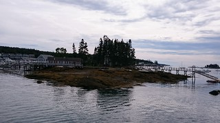 An island in Boothbay Harbor