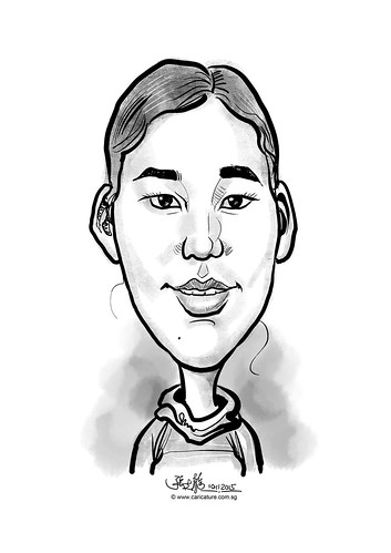 digital caricature for eBay - Yu, Li