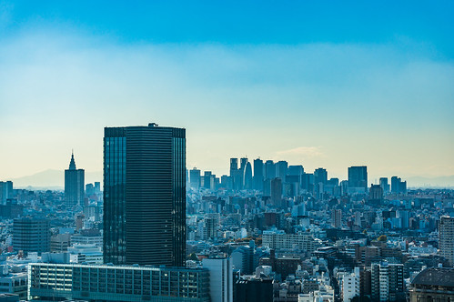 See the Shinjuku skyscrapers from Bunkyo Civic Center