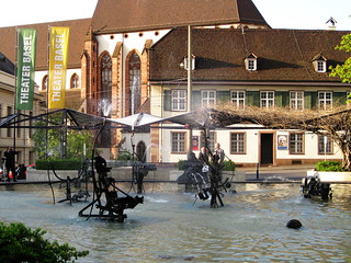 Kinetic water sculptures in Basel