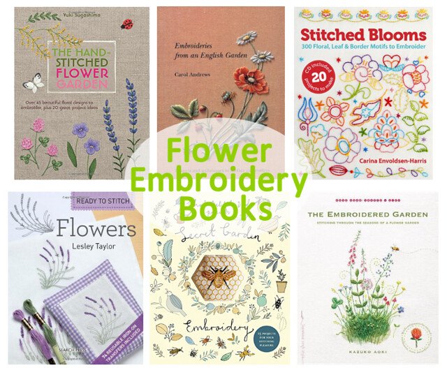 Flower Embroidery Books