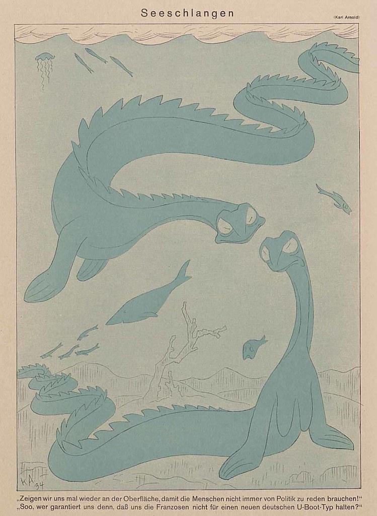 Karl Arnold - Sea Snakes, 1934