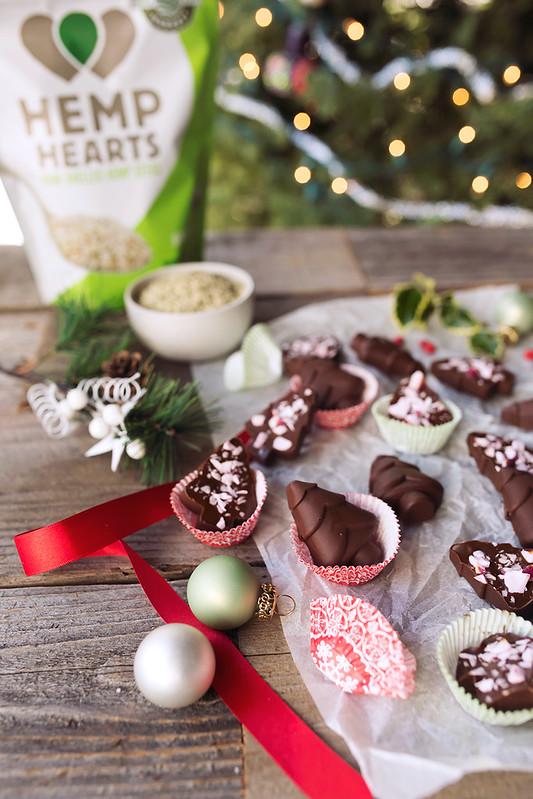 Hemp Heart Butter Peppermint Chocolate Fudge
