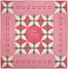 Love Never Ends Custom Quilt by Whimzie Quiltz
