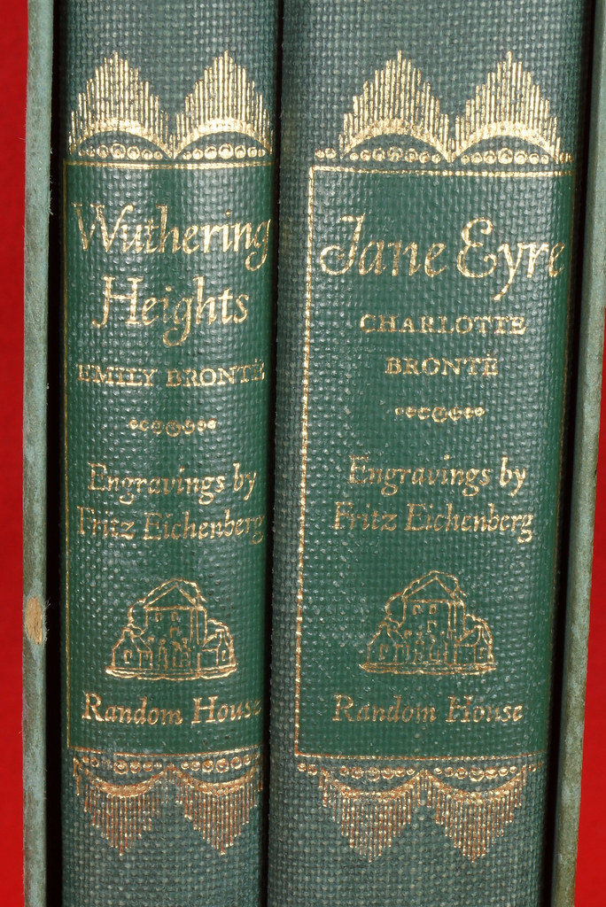 RD14487 Jane Eyre - Wuthering Heights by Charlotte & Emily Bronte 1943 Random House DSC08135