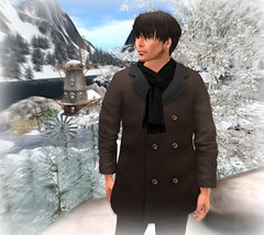 (red)sand _5000 members gif male coat and scarf