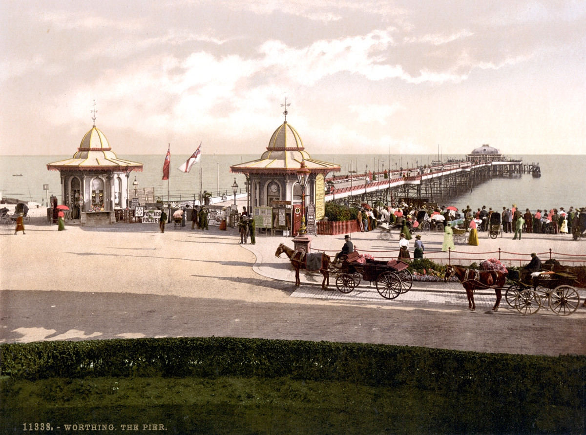 Worthing Pier, West Sussex, England, 1895