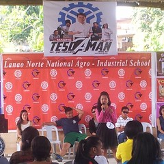 "Jeannette Esteves of Food Processing NCII won the solo singing contest. This lady has such a nice voice when she sang Yeng Constantino's ""Salamat"" □□□ #tesda #LNNAIS #TESDA_21stAnniversary"