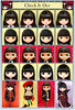 Neo Blythe Comparison: Check It Out (CIO/first row), Bow Wow Trad (BWT/second row), Night Flower (NF/third row), and B2 HOLiC (last row) by electrikbarbarella