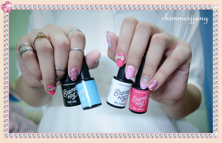 Shimmering Thoughts - Gel Nails at Home: Etude House Enamelting Gel ...