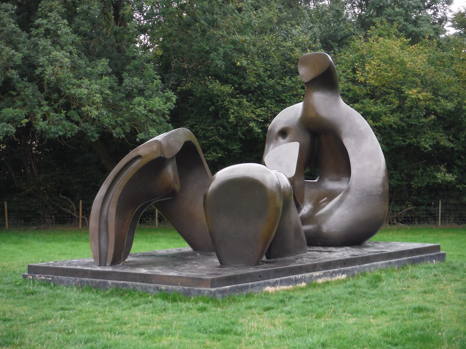 Three Piece Reclining Figure: Draped (1975) (II) SWC Walk 164 Roydon to Sawbridgeworth via Henry Moore Foundation