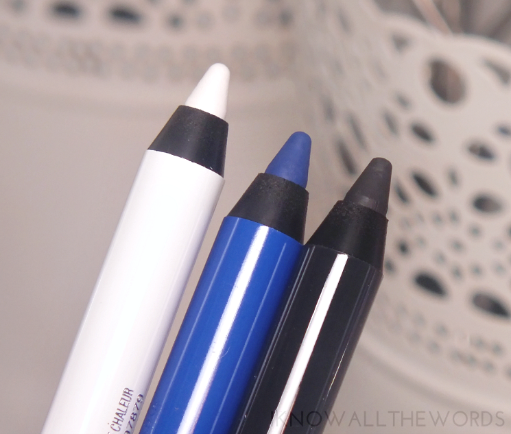 Maybelline Lasting Drama Waterproof Gel Pencil Cashmere White, Lustrus Sapphire, and Smooth Charcoal (5)