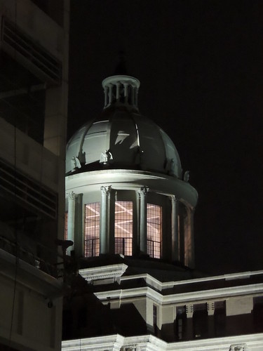 Franklin (TX) United States Picture : Lighted Dome of Refurbished 1910 Courthouse Downtown Houston Texas