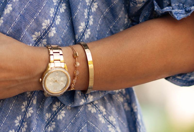 cute & little blog | petite fashion | cartier love screw bangle, alex ani bracelet, citizen crystal silhouette