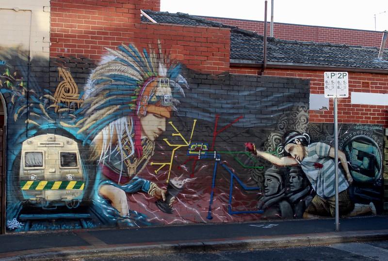 Street art in Mckinnon