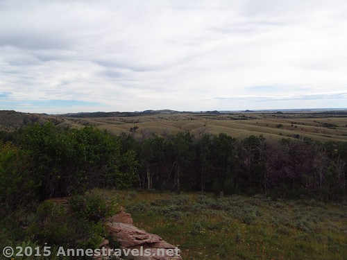 Part of the view from Pilot Hill Aircraft Arrow sight near the Lincoln Rest Stop, Wyoming