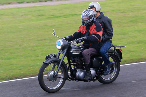 Vintage Triumph Motorcycle
